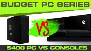 Can our $400 PC beat out the performance of a similarly priced console?