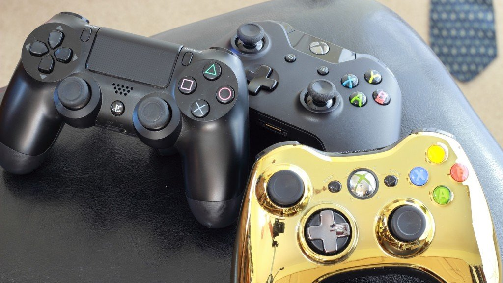 The Xbox One, 360, and PS4 DualShock make