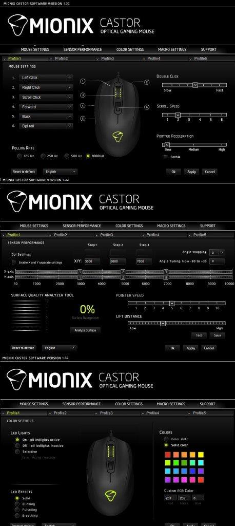 Miniox Castor Software