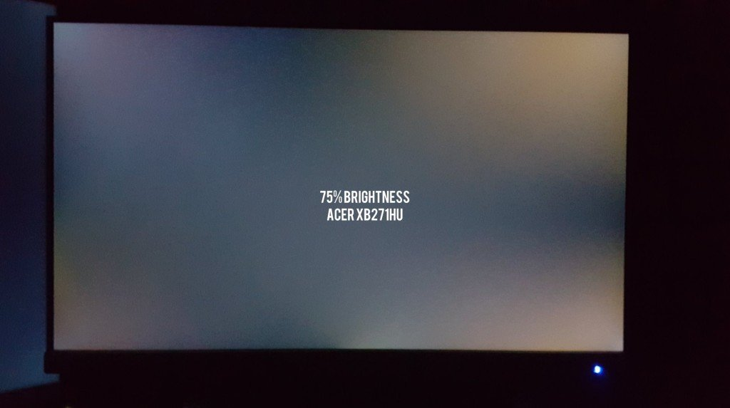 Acer XB271HU Backlight Bleed