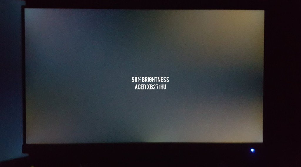 Acer XB271HU Backlight Bleed 2