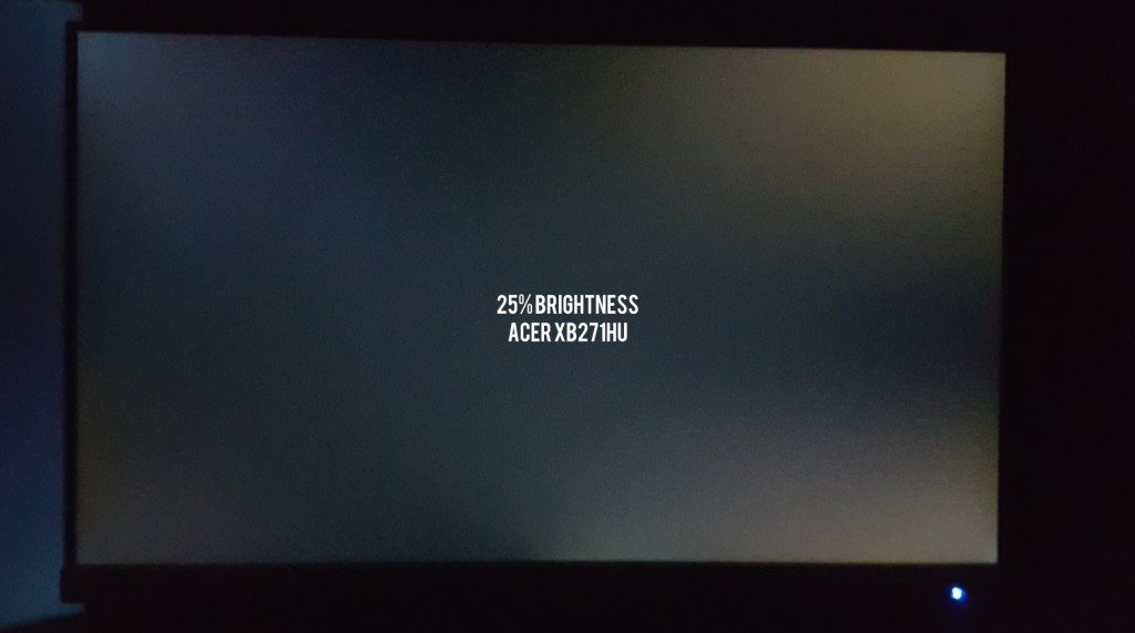 Acer XB271HU Backlight Bleed 3